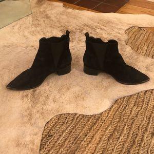 Acne Black Suede Boots